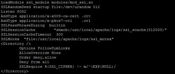 apache-ssl.conf mit korrigiertem Port 8082